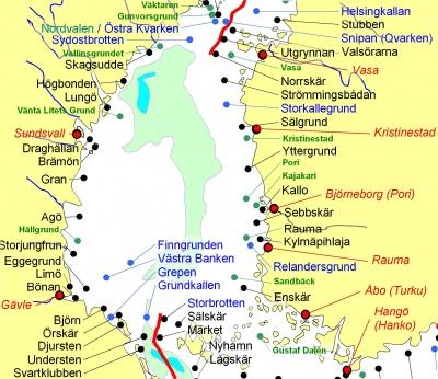 fyrar i sverige karta Bottenhavet   fyrwiki fyrar i sverige karta