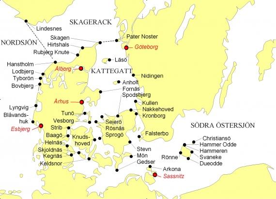 Karta Sodra Danmark.Danmark Karta Sjalland Karta